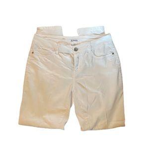 d.Jeans Modern fit High Waist Capri White pants